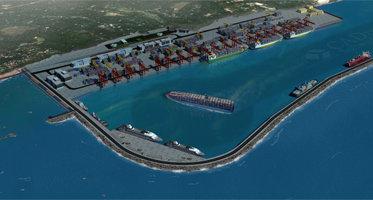 Międzynarodowy Port Vizhinjam. Wizualizacja•www.vizhinjamport.in