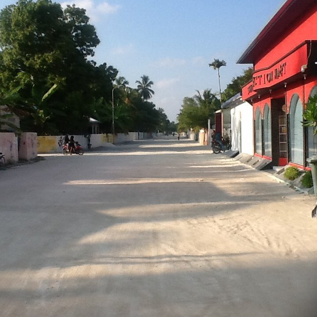 Muzułmańska wioska Mehedhoo, Addu Atol, Malediwy•Foto: D. Jaworska