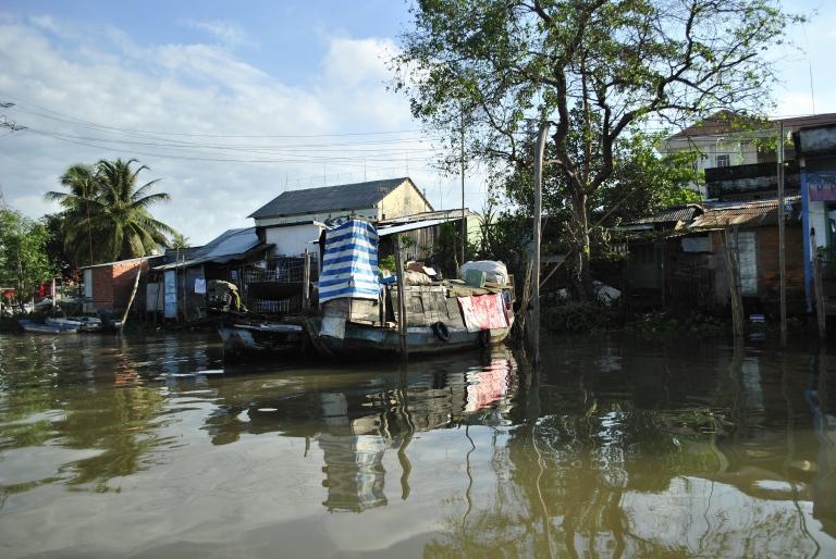 Domy w Delcie Mekongu. Wietnam. Foto: D. Jaworska