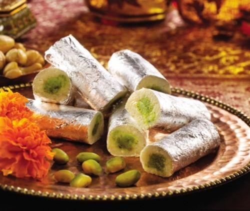 Indyjskie ciasteczka ze srebrem.