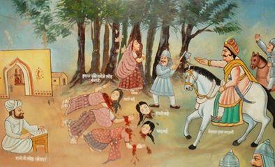 Legenda o wycince drzew. Rajastan