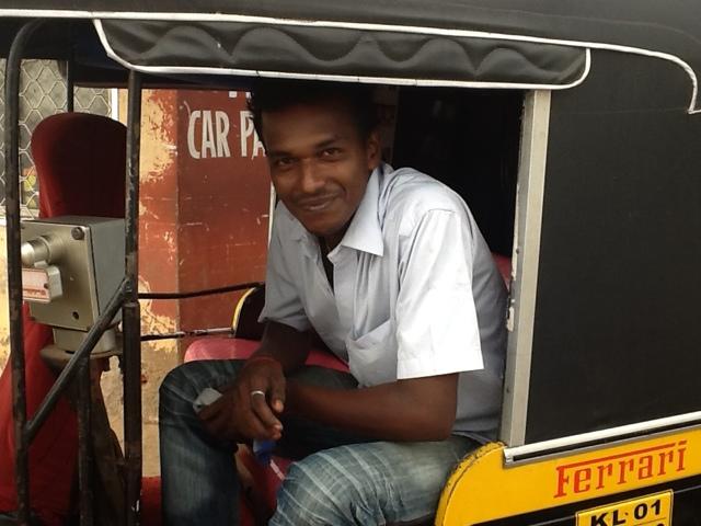 Midhun, młody rikszarz z Kerali. Indie. Foto: D. Jaworska