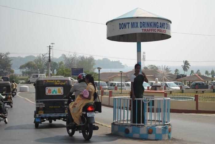 Policjantka w Port Blair. Indie. Foto: D. Jaworska