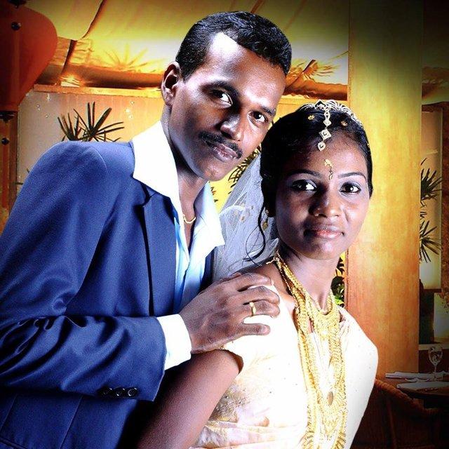 Victoria i Midhun. Nowożeńcy z Kerali. Indie. Foto: D. Jaworska