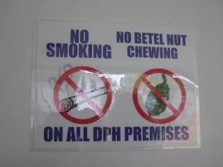 Zakaz żucia betelu