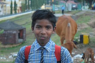 Chłopiec w drodze do szkoły. Port Blair. Foto: D. Jaworska