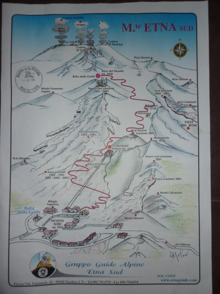 Etna Mapa